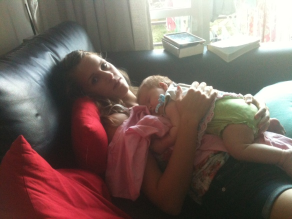 Whispering instructions to Zoe while she sleeps...